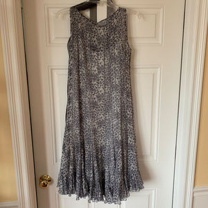 Grey Leopard Cocktail Dress